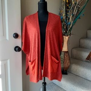 CANDIE'S Kimono Batwing Open Front Sweater
